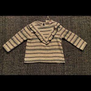 NWTZara Baby long sleeved ruffled ultra soft top 18-24m